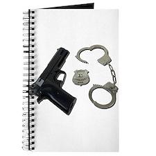 Police Badge Gun Handcuffs Journal