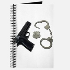 Police Badge Gun Handcuffs Journal