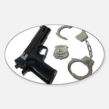 Police Badge Gun Handcuffs Decal