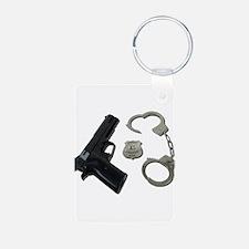 Police Badge Gun Handcuffs Keychains