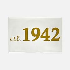 Est. 1942 (Birth Year) Rectangle Magnet