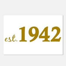 Est. 1942 (Birth Year) Postcards (Package of 8)