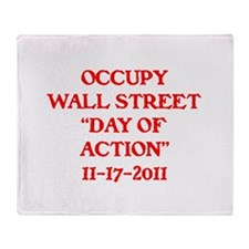 "OCCUPY ""DAY OF ACTION"" . Throw Blanket"