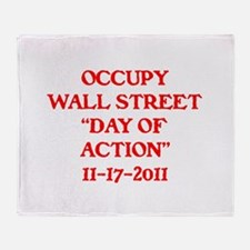 """OCCUPY """"DAY OF ACTION"""" . Throw Blanket"""