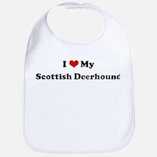 I Love Scottish Deerhound Bib