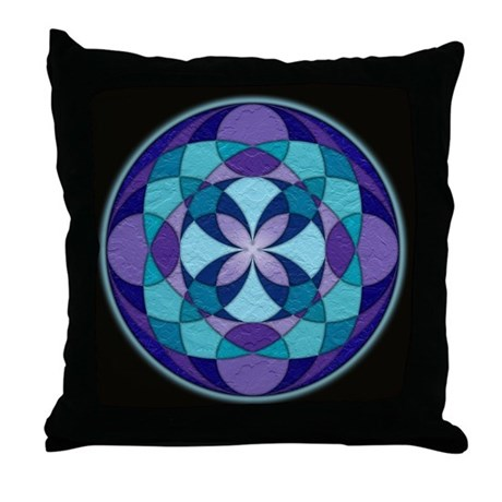 Kaleidoscope Mandala Throw Pillow