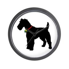 Christmas or Holiday Fox Terrier Silhouette Wall C