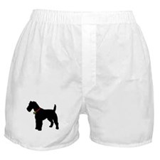 Christmas or Holiday Fox Terrier Silhouette Boxer