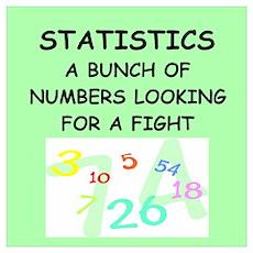 Funny statistics joke Poster