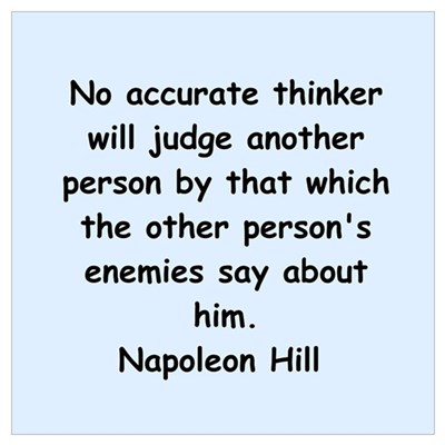Napolean Hill quotes Poster