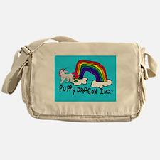 Funny Unicorn pooping rainbow Messenger Bag