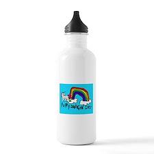Cute Unicorn pooping rainbow Water Bottle