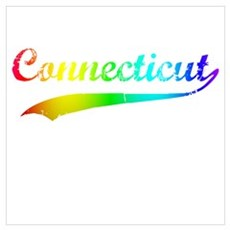 Connecticut Rainbow Vintage Canvas Art