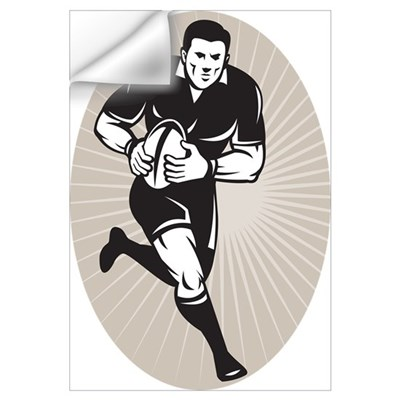 rugby player black Wall Decal