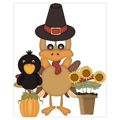 Thanksgiving Friends Poster