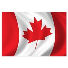 Flag of Canada Canvas Art