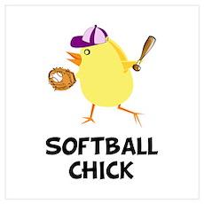 Softball Chick Poster