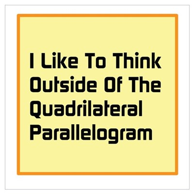 Quadrilateral Parallelogram Framed Print
