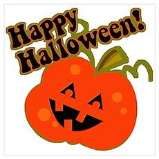 Funny Halloween Pumpkin Poster