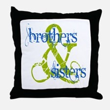 Brothers & Sisters Television Throw Pillow