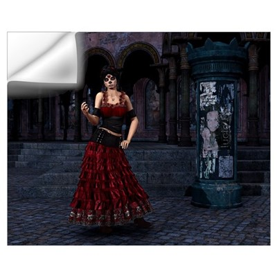 Day of the Dead Crimson Eveni Wall Decal