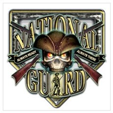 US Army National Guard Shield Poster