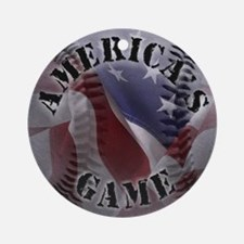 Baseball, Americas Game Ornament (Round)
