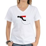 Dignity Please Signs Women's V-Neck T-Shirt