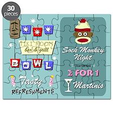 Sock Monkey Bowling Puzzle