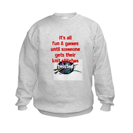 Twisted Stitches Kids Sweatshirt