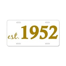 Est. 1952 (Birth Year) Aluminum License Plate