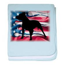 Pit Patriot baby blanket