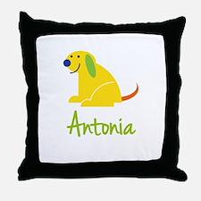 Antonia Loves Puppies Throw Pillow