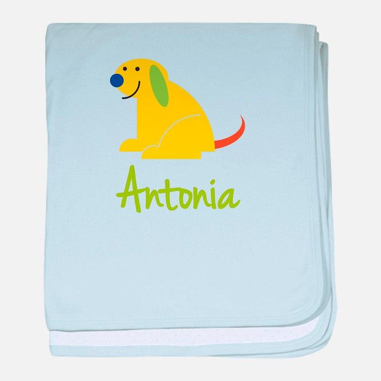 Antonia Loves Puppies baby blanket