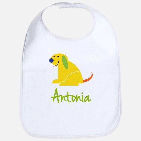 Antonia Loves Puppies Bib