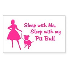 Sleep with My Pit Bull (retro Decal