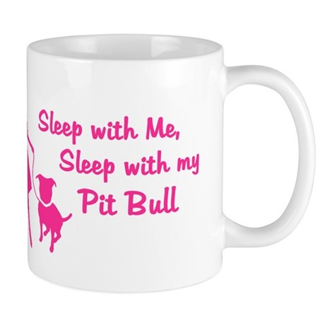 Sleep with My Pit Bull (retro Mug