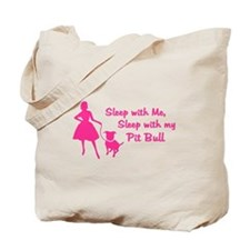 Sleep with My Pit Bull (retro Tote Bag