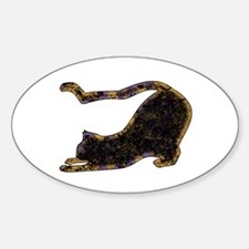 Shadow Cat Oval Decal