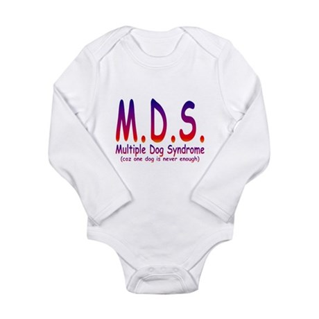 Multiple Dog Syndrome Long Sleeve Infant Bodysuit