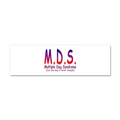 Multiple Dog Syndrome Car Magnet 10 x 3