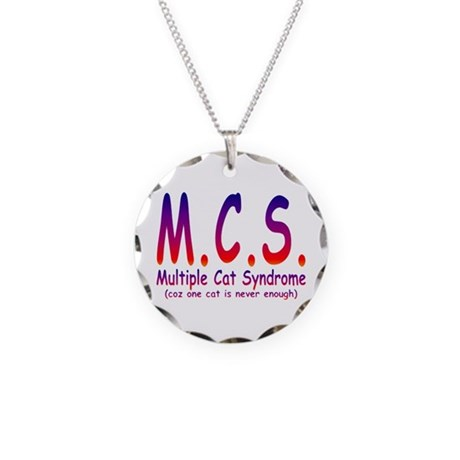 Multiple Cat Syndrome Necklace Circle Charm