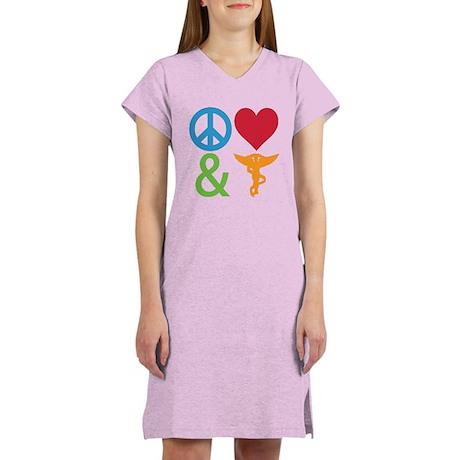 Peace, Love & Chiro Women's Nightshirt