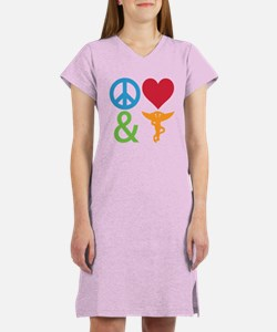 Peace, Love & Chiro Women's Nightshirt