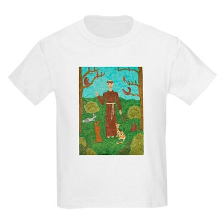 Saint Francis of Assisi Kids Light T-Shirt