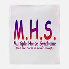 Multiple Horse Syndrome Throw Blanket