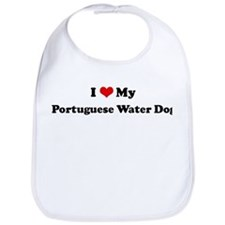 I Love Portuguese Water Dog Bib