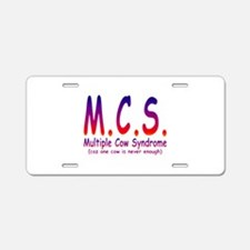 Multiple Cow Syndrome Aluminum License Plate