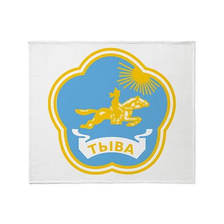 Tuvan Coat of Arms Throw Blanket