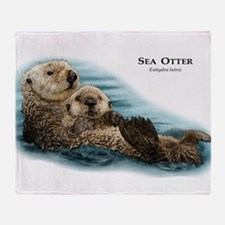 Sea Otter Throw Blanket